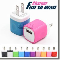 apple adapter usa - Wall charger Travel Adapter For Iphone S Plus V A Colorful Home Plug USB Charger For Samsung S6 S6 EDGE Note USA Version EU Version DHL