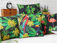 banana body art - Magical Tropical Rain Forest Nature Flamingos Banana Legend Massager Pillow Decorative Pillows Case Euro Cover Home Decor Art Gift