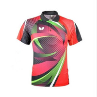 badminton clothing - New Butterfly men s Tops table tennis clothing sports Summer running Jersey Badminton Only T shirt