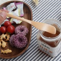 Wholesale Jam Knives cm Solid Wood Breakfast Cheese Knives Burlywood Schima Superba Cutlery MOQ Piece