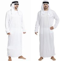 arab clothes men - Freeshipping In the Middle East Arab Prince King Clothes Dubai Emirates Robes Cosplay Halloween Costumes for Man Long Gown