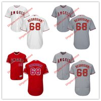 angels cams - 68 Cam Bedrosian Jersey MLB Baseball Los Angeles Angels of Anaheim Jerseys Flexbase Cool Base Red Grey White size XL