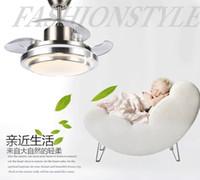 Wholesale Invisible fan lamp ceiling fan light dining room bedroom home minimalist modern LED fan Chandelier