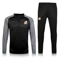 Wholesale 2016 PSG black new soccer tracksuit Survetement Cavani JOSE VERRATTI Maillot de Foot Training Maillot Tracksuit pants