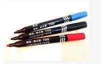 Wholesale high quality marking pen Oil pen Black Dual Skin Markers Piercing Marking Scribe Pen black blue red from Lomefo