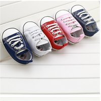 Wholesale Fashion canvas Baby Shoes Newborn Shoes Infants Toddler Shoes Sneakers First Walker Fabric Soft Bottom