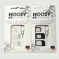 Wholesale 4 in Noosy SIM Card Micro SIM Card to Standard Adapter Converter Set For iPhone s s s plus