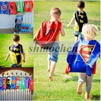 batman robin cartoons - Kids Superhero Cape Superman Batman Supergirl Cape Batgirl Flash Ironman Hulk Robin Spiderman Cloak Hallowee Cosplay Party Costumes B276
