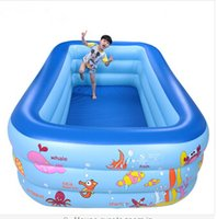 Wholesale Inflatable swimming pool for children play with electric pump x180x75cm
