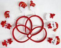 Wholesale Red Velvet Christmas Decoration X mas Pattern Head Hoop Hair Band Christmas Gift For Children