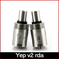 Replaceable Yep V2 Metal 100%Original Yep V2 RDA Rebuildable Dripping Atomizer Bottom Heat Dissipation Big Drip Tip More Airholes 510 Threading freeshipping