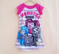 Wholesale 2016 Kids monster highs dress girls Summer cartoon costume Rapunzel dress casual Cinderella Ariel Cartoon Dress