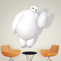 big chinese wall - DHL Baymax Big Hero Wall Stickers Kid Room Home Decoration living room WallPaper Removable cm