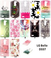 beautiful peonies - New Arrival Beautiful Flower Rose Peony Design Painted Black Cover Case For LG L Bello D337 Phone Shell