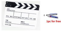 Wholesale New Clapperboard Clapper Board Both in Chinese and English TV Film Movie Slate Genuine Black White PAV1BCP