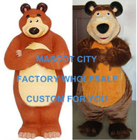 adult grizzly bear costume - Masha Bear Bruin Ursa Grizzly Mascot Costume Adult Size Cartoon Character Mascotte Outfit Suit SW778