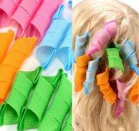 aa amazing - 18pcs DIY Amazing Magic Leverag Hair Curlers Curlformers Plastic Hair Roller Hooks Hair Styling Tools aa