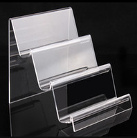 acrylic display counter - New style Acrylic phone bracket tray exhibite stand mobile phone display counter transpare The wallet show holder