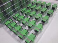 apc optical connector - SC APC fiber optical connector flange head optical fiber coupler square joint