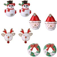 alphabet garland - Wonderful Christmas Jewelry Cute Snowman Santa Claus Reindeer Garland Colorful Ear Studs Syeer C00689