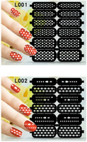 Wholesale Nail art hollow nail decals template stickers stencil nail stickers DIY nail stamping polish guild hollow vinyl stickers styles