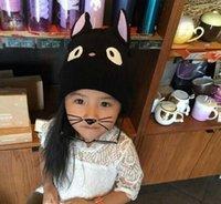 baby big cats - 2017 new Korean children cartoon cat hat baby warm knit hat child hat big eyes wool cap