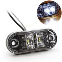 acura van - 1pc Auto LED Side Marker Light Clearance Lamp V V E marked DOT Car Van Truck Trailer Bus Steering light EA10722