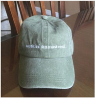 Wholesale Hot Kendrick Lamar untitled unmastered hats Top dawg entertainment TDE quot snapback cap I Feel Like Pablo kanye weat Ye Bear Dad sun golf caps
