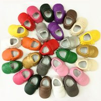 Wholesale Spring Autumn Baby Boy Girl First Walkers Fashion Toddler Infant Faux Leather Moccasins Shoes Newborn Casual Tassel Shoe