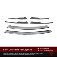 Wholesale High Quality Stainless Steel Front Grille Trim set Car Styling Accessories For Porsche Cayenne