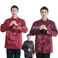 Wholesale Color high quality Chinese long sleeve tang suit shirt Men s kung fu clothing Jacket coat kung fu suit uniform wing chun