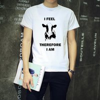 animal liberation - 100 Cotton I Feel Therefore I Am Vegetarian Men s Round Neck T Shirt Animal Rights Vegan Liberation