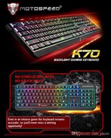 abs mechanical keyboard - 2016 hot sale ABS MotoSpeed K70 Ergonomic design LED color Backlight Gaming Keyboard USB Powered for Desktop Laptop Mechanical Keyboard S