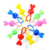 Wholesale Hot Sale Candy Colored Heart shaped Silicone Food Bag Sealing Clip Tie Beam Port Bundled