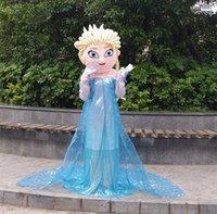 Wholesale Costume Woman Mascot - New Style Elsa Mascot Costume From Frozen Cartoon Princess Elsa Performing costumes walking mascot costumes for adult festival fancy dress
