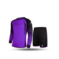 Wholesale Kelme K15Z209 Men Long Sleeve Tight Printing Wicking Super Stretch Competition Training Soccer Goalkeeper Suit Purple Black