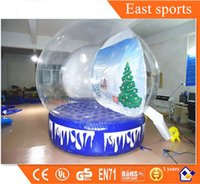 Wholesale Transparent PVC inflatable Christmas photo Snow Globe Ball
