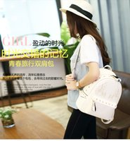 ban plastic bags - Miss Han Ban pu shoulder bag backpack handbag tide Korea Institute of wind bag new fashion wild rivet