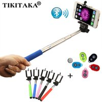 Wholesale Fashion Extendable Self Selfie Stick Handheld Monopod Clip Holder Bluetooth Shutter Remote Controller for iPhone Android Phone
