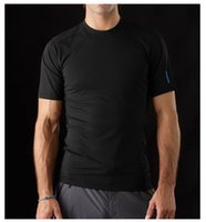 Wholesale Brand Outdoor Quick Dry Coolmax t shirt Men Short Sleeve O Neck Hiking Camping Fishing Male Sport Breathable Black T shirt