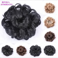 Wholesale HOT New Womens Diam15cm Curly Wave Buns Donut Bride Chignons Hairpiece Hair Extensions Cover Wrap Maker Hair Accessories