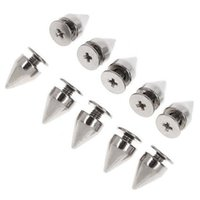 Wholesale Decor MM Screwback Silver Cone Spikes Studs Leathercraft DIY Punk Spots