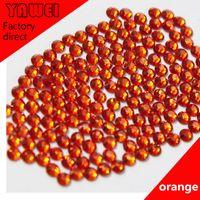 Wholesale Orange crystal Hot drilling Rhinestones Flatback Round gross in a Nail Art Hot Fix Shoes Rhinestones