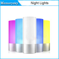 audio tables - fashion Colorful Wireless Bluetooth Mini Speaker Rechargeable Multifunctional Portable Speaker With LED Table Lamp Night Light