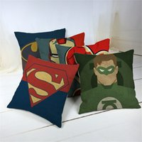 Wholesale Linen Cotton Cartoon Printed Seat Cushion Sofa Pillow Bedding Pillows Decorative Throw Pillow Cover cm cm