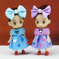 anime mini figure girl - 10 cm hearts bowknot anime dream for people Humanoid doll accessories