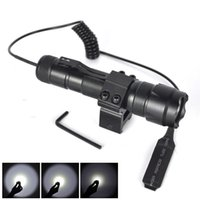 Wholesale 502B Lm XM L T6 LED Tactical Flashlight Torch Rifle Mount Gun Remote Switch
