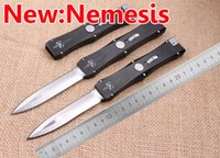 Wholesale 2016 Microtech Nemesis Sword D2 Marked Rawai Goddess Lite Double Edge Hunting Survival Knife Xmas gift for men Cold Steel collection knives
