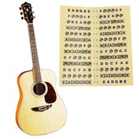 beginner guitar music - 2016 new Guitar Fretboard Sticker Frets Note Decal Beginners Learning Music Lesson