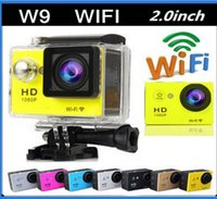 Wholesale SJ6000 Style WIFI Action Camera W9 Helmet sport Camera degee Lens M waterproof FHD P HDMI Car DV DVR